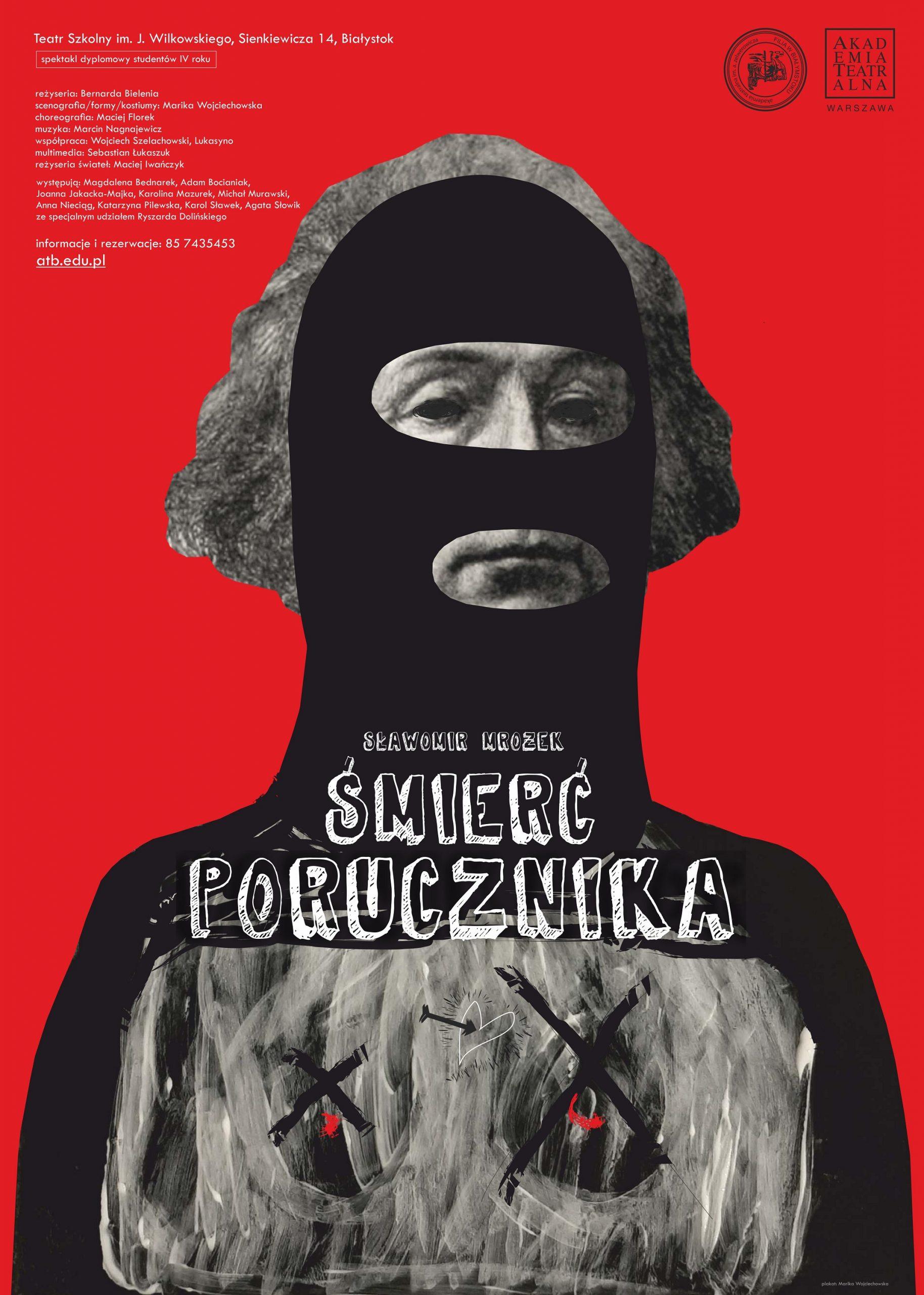 Śmierć porucznika, plakat autorstwa Mariki Wojciechowskiej