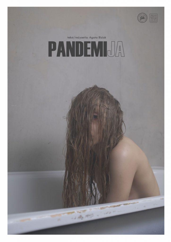 Plakat do spektaklu autorstwa Mariki Wojciechowskiej