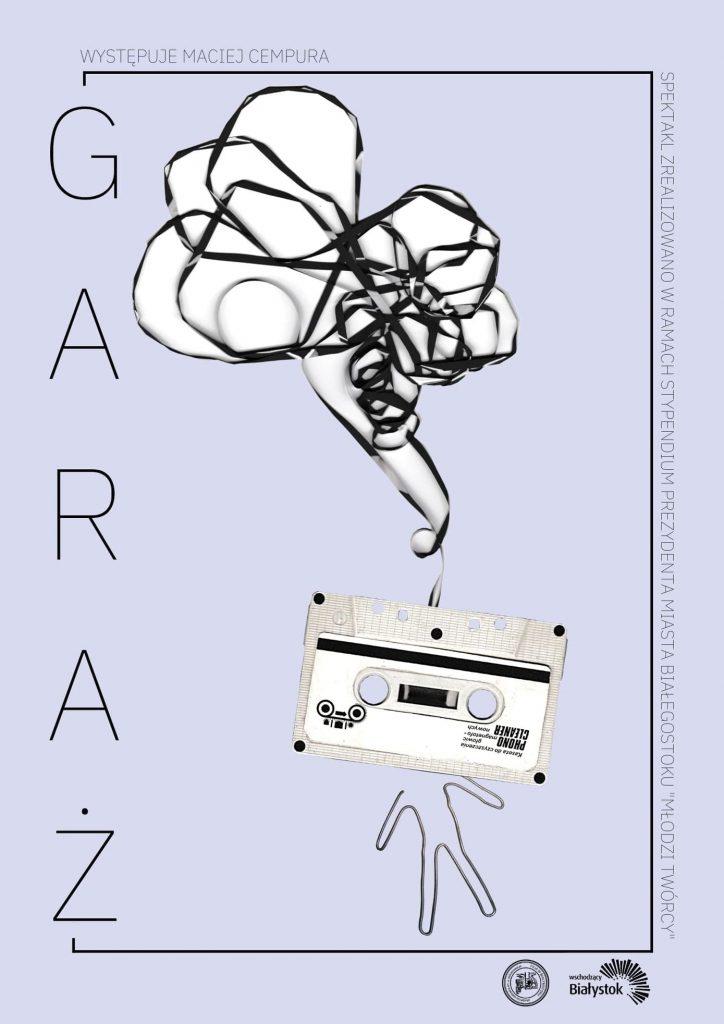 "Plakat do spektaklu ""Garaż"""